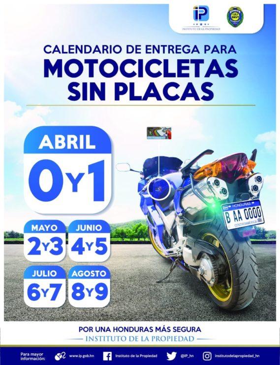 Calendario Fiscal 2019 Honduras.Calendario De Entrega De Placas Para Motocicletas
